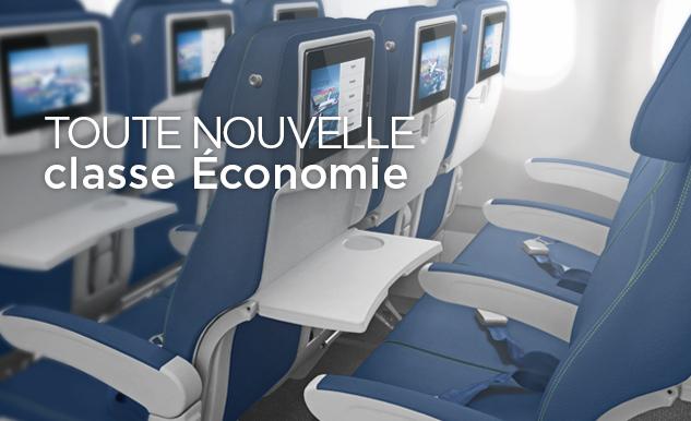 Cabines si ges air transat for Air france interieur classe economique
