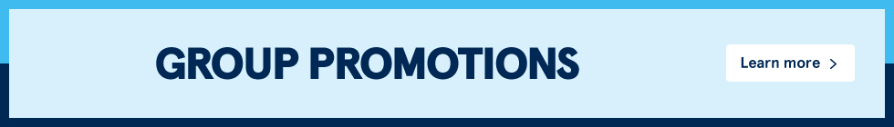 Group promotions. Learn more