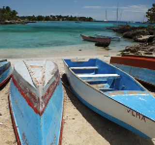La Romana-Bayahibe Boats on the beach