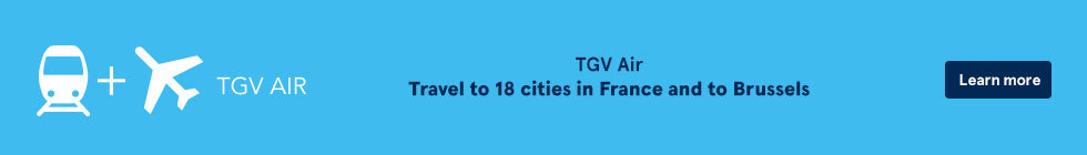TGV Air. Travel to 18 cities in France and to Brussels. Learn more.