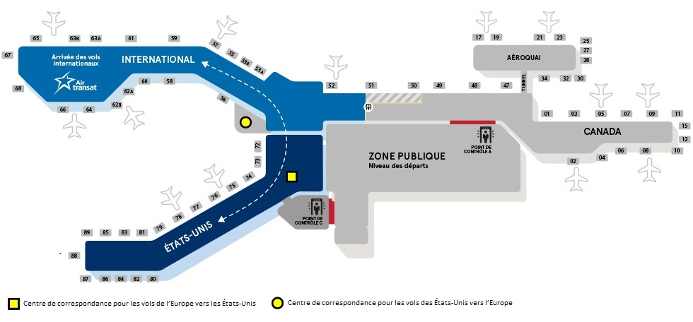 Plan de l'aéroport international de Montréal-Trudeau