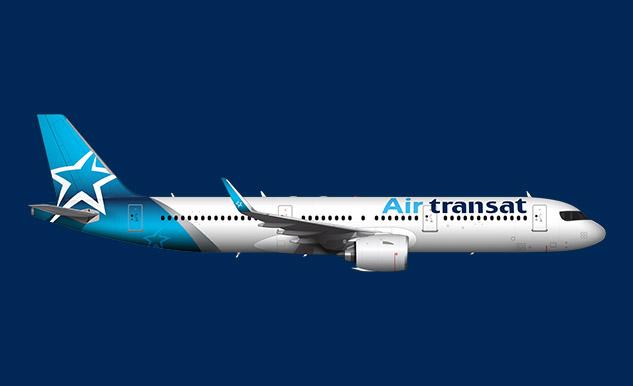Airbus a321 200 air transat for Vol interieur israel