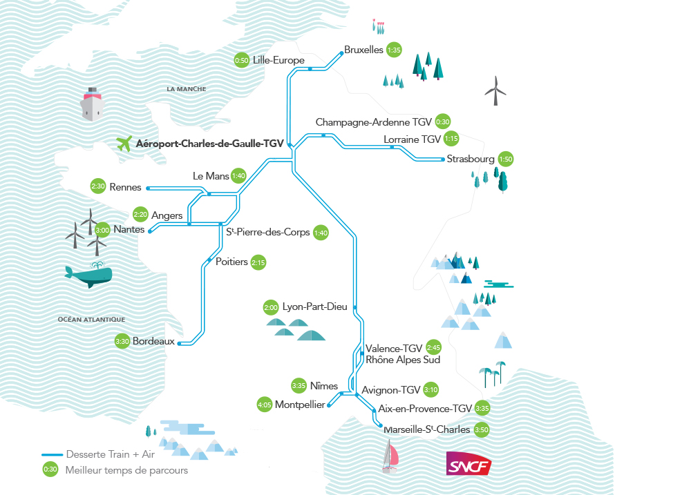 Train Air Travel To 18 Cities In France Air Transat