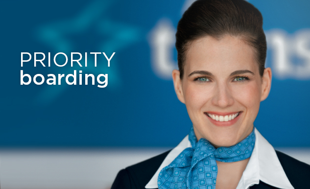 Priority boarding Air Transat Option Plus