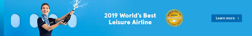 2019 World's Best Leisure Airlines. Learn more.