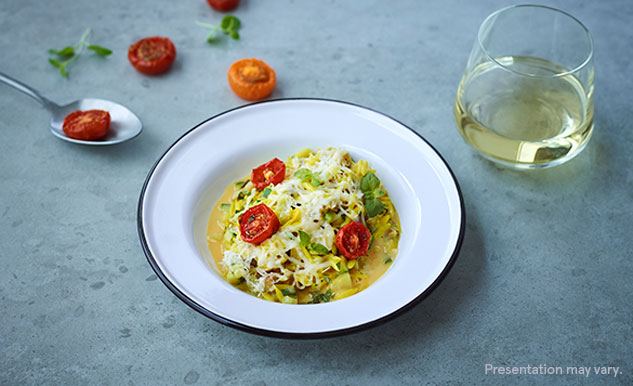 Cheese and tomato orzo risotto