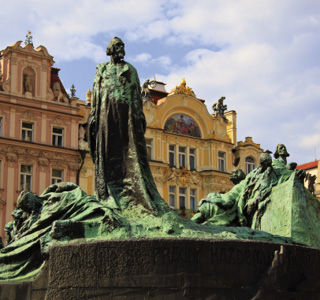 Prague-Jan Hus monument